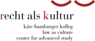 Käte Hamburger Kolleg 'Recht als Kultur' Law as culture. Centre for advanced study.